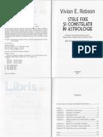 Stele Fixe Si Constelatii in Astrologie - Vivian E. Robson