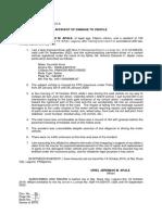 Affidavit of Damage to Motor Vehicle 2