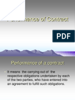 performance -  contract -  law