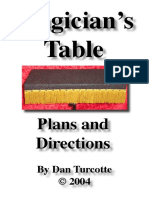719 Magic Table Plans