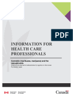 Information Health Care Professionals Cannabis Cannabinoids Eng