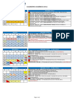 Calendar i o Academic o 20192
