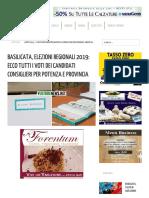 Basilicata, Elezioni Regionali 2019_ Ecco Tutti i Voti Dei Candidati Consiglieri Per Potenza e Provincia