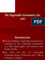 New the Negotiable Instruments Act 1881 381011348