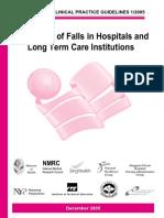 Prevention of Falls in Hosp Ltc Institutiions