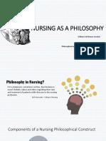 Nursing as a Philosophy