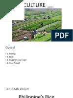 Agriculture Economic Dev