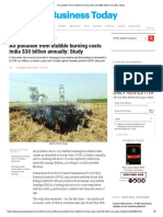 Air pollution from stubble burning costs India $30 billion annually_ Study