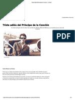 Triste adiós del Príncipe de la Canción - La Prensa