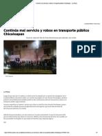 Continúa mal servicio y robos en transporte público Chicoloapan - La Prensa