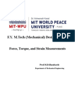 Forcr Torque Strain Measurement