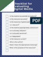 digital media checklist