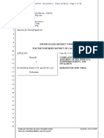 Apple  Files Complaint with the Court to Stop a company for Declaratory Judgement of Non-Infringement