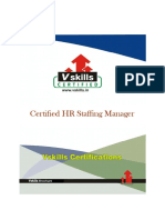 Vs-1003 Certified HR Staffing Manager Brochure