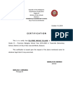 Cert of Enrolment and Good Moral and Statement of Account