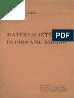Kulczycki, Ludwik - Materialistyczne Pojmowanie Dziejów