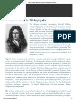 Leibniz, G.W.F. -  Metaphysics (IEP)