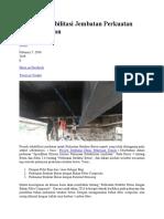Proyek Rehabilitasi Jembatan Perkuatan Struktur Beton