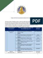 Bureau de Change September 2019