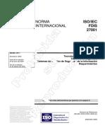 Norma ISO 27001-2005 Español