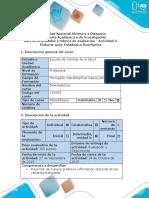 Guía de actividades y rúbrica de evaluación - Actividad 3 - Elaborar guía estadística descriptiva. docx.docx