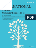 IGCSE in Computer Science Specification