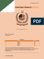 Hec Phase 1 Pastpaper - MDCAT (Educatedzone.com)