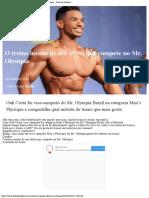 O Treino Insano de Um Atleta Que Compete No Mr Olympia – Feito de Iridium
