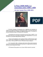 Primer Periodo Presidencial de Jose Antonio Paez