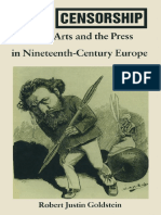 Robert Justin Goldstein, Political Censorship of the Arts and the Press in Nineteenth Century Europe