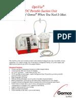 Gomco G180 Brochure Suction Machine Aspirator