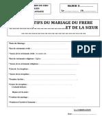 MARIAGE - LISTE commission + TACHES