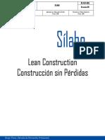 Silabo - Lean Construction 2019
