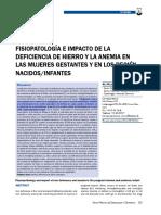Fisiopatologia deficiencia hierro