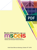 Book of Program MSCEIS 2018