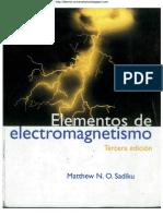 Elementos de Electromagnetismo. Matthew N. O. Sadiku. 3ra Edición