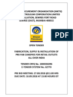 Canopy Tender Document of BPCL
