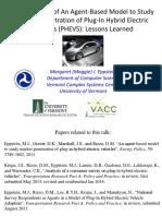 Development of an agent based model to study market penatration