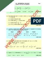Mathematics Differential MCQ