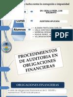 Grupo 7 Procedimientos de auditoria en Obligaciones Financieras