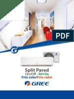 Split Pared OnOff - Gree