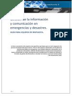 gestion de informacion y comunicacion en emergencias y desastres