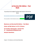 Business and Society 8th Edition – Test Bank