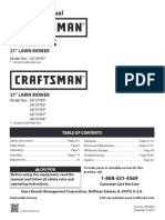 Craftsman Lawn Mower 37705 Owners Manual