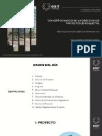Conceptos básicos  en la Dirección de Proyectos PMI - sexta edicion
