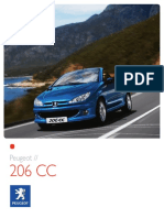 Peugeot 206 cc catalogue