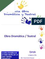 Difrencia Obra Dramatica y Teatral