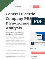 General Electric Company PESTEL
