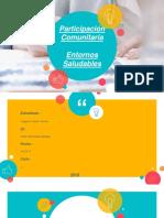 Participacion Comunitaria Entornos Saludables .Dayana Castro