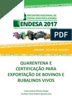 2 Quarentena e Certificação Para Exportação de Bovinos e Bubalinos Vivos - Luana Das Chagas